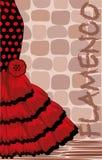 Tarjeta española del día de fiesta del flamenco Imagenes de archivo