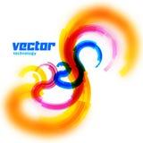 Tarjeta espiral del vector con el borde borroso Imagenes de archivo