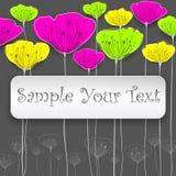 Tarjeta estilizada de las flores Imagen de archivo libre de regalías