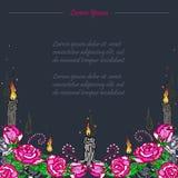 Tarjeta fúnebre Día de los muertos Fotografía de archivo libre de regalías