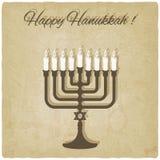 Tarjeta feliz de hanukkah Fotos de archivo