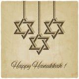 Tarjeta feliz de hanukkah stock de ilustración