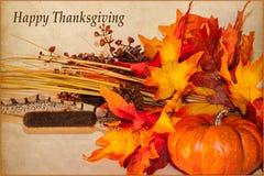 Tarjeta feliz de la acción de gracias Imagen de archivo libre de regalías