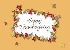 Tarjeta feliz de la acción de gracias Imagen de archivo