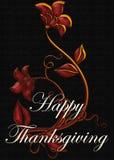 Tarjeta feliz de la acción de gracias del diseño floral Fotografía de archivo
