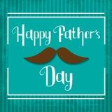 Tarjeta feliz de la celebración del día de padres del vector Foto de archivo libre de regalías
