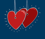 Tarjeta feliz de la tarjeta del día de San Valentín Foto de archivo