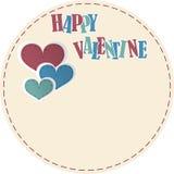Tarjeta feliz de la tarjeta del día de San Valentín Fotos de archivo libres de regalías