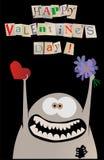 Tarjeta feliz de la tarjeta del día de San Valentín Imagen de archivo libre de regalías