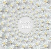 Tarjeta feliz de Ugadi Imagen de archivo