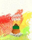 Tarjeta feliz de Ugadi Fotografía de archivo