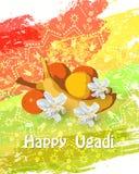 Tarjeta feliz de Ugadi Imágenes de archivo libres de regalías
