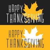 Tarjeta feliz del cartel de la acción de gracias en estilo plano Imagenes de archivo