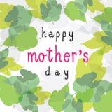 Tarjeta feliz del cuadrado del día de la madre Fotografía de archivo