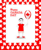 Tarjeta feliz del día de Canadá Imagenes de archivo