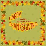 Tarjeta feliz del día de la acción de gracias Imagen de archivo libre de regalías