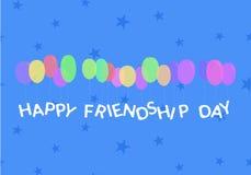 Tarjeta feliz del día de la amistad stock de ilustración