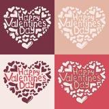 Tarjeta feliz del día de la tarjeta del día de San Valentín s Foto de archivo