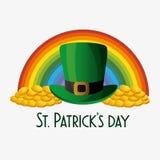 tarjeta feliz del día de los patricks del santo stock de ilustración