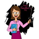 Tarjeta feliz del día de los profesores ilustración del vector