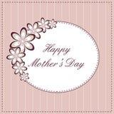 Tarjeta feliz del día de madre Fotografía de archivo libre de regalías