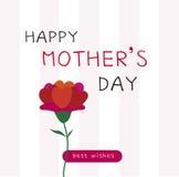 Tarjeta feliz del día de madres Fotografía de archivo libre de regalías