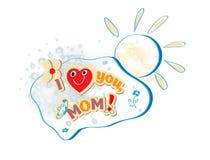 Tarjeta feliz del día de madres del vector Fotos de archivo
