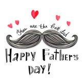 Tarjeta feliz del día de padre Fotografía de archivo