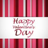 Tarjeta feliz del día de San Valentín Foto de archivo libre de regalías