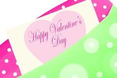 Tarjeta feliz del día de tarjeta del día de San Valentín ilustración del vector