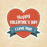 Tarjeta feliz del día de tarjeta del día de San Valentín Fotografía de archivo libre de regalías