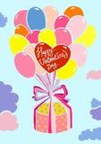 Tarjeta feliz del día de tarjeta del día de San Valentín Foto de archivo