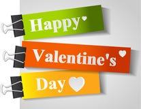 Tarjeta feliz del día de tarjeta del día de San Valentín Imágenes de archivo libres de regalías