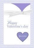 Tarjeta feliz del día de tarjeta del día de San Valentín Fotos de archivo libres de regalías
