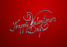 Tarjeta feliz del día de tarjeta del día de San Valentín Imagenes de archivo