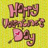 Tarjeta feliz del día de tarjeta del día de San Valentín del texto rosado libre illustration