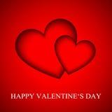 Tarjeta feliz del día de tarjetas del día de San Valentín Imagenes de archivo