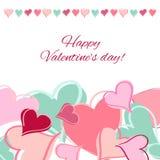Tarjeta feliz del día de tarjetas del día de San Valentín. ilustración del vector