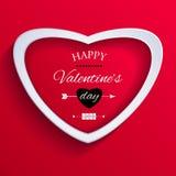 Tarjeta feliz del día de tarjetas del día de San Valentín. stock de ilustración