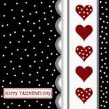 Tarjeta feliz del día de tarjetas del día de San Valentín Imagen de archivo