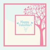 Tarjeta feliz del día de tarjetas del día de San Valentín libre illustration