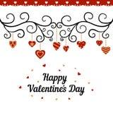 Tarjeta feliz del día de tarjetas del día de San Valentín Imágenes de archivo libres de regalías