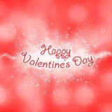 Tarjeta feliz del día de tarjetas del día de San Valentín Foto de archivo libre de regalías