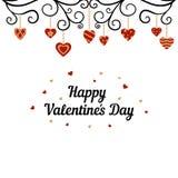 Tarjeta feliz del día de tarjetas del día de San Valentín Foto de archivo
