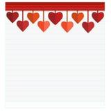 Tarjeta feliz del día de tarjetas del día de San Valentín con el corazón Ejemplo del vector - ejemplo Fotografía de archivo libre de regalías
