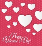 Tarjeta feliz del día de tarjetas del día de San Valentín con el corazón Vector Imagenes de archivo