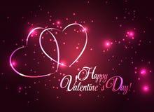Tarjeta feliz del día de tarjetas del día de San Valentín con el corazón Vector Foto de archivo libre de regalías