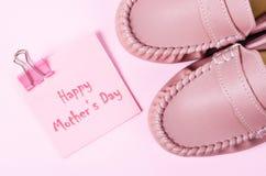 Tarjeta feliz del día del `s de la madre Imágenes de archivo libres de regalías