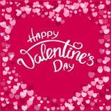 Tarjeta feliz del día del `s de la tarjeta del día de San Valentín Foto de archivo