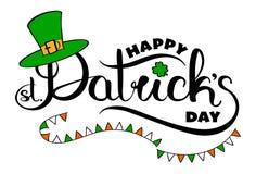 Tarjeta feliz del día del ` s de St Patrick Foto de archivo